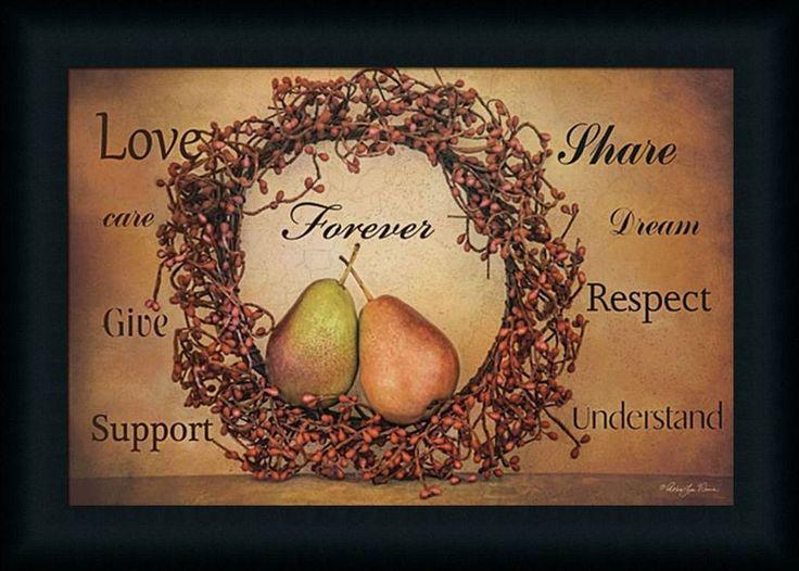 Forever Robin-Lee Vieira Pears with Wreath 12x18 Framed Wall Art Print Picture #FramedArtbyTilliams