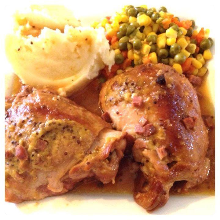 Honey Mustard Chicken with Bacon  