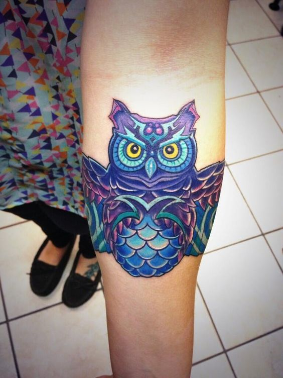 edc owl tattoo