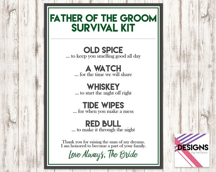 Father Of The Groom Wedding Gift Ideas : Ideas about Groom Survival Kits on Pinterest Groom gifts, Groom gift ...