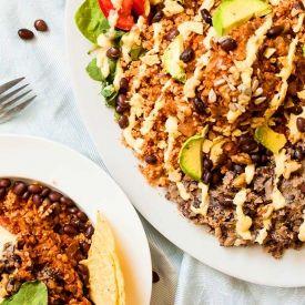 Vegan Taco Bowl [The Humble Plate] eat365.com.au