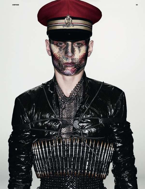 Bizarre Military Editorials 'War Hero' in Dazed & Confused Shows a Series of Fashionable Soldiers Full Article