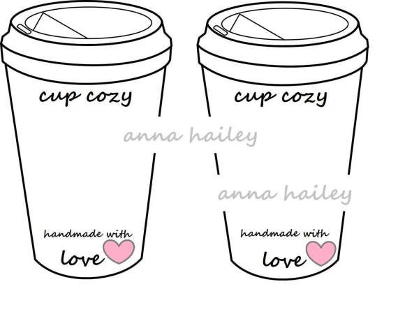 Crochet Coffee Cup Cozy To Go Cup Template Inserts by