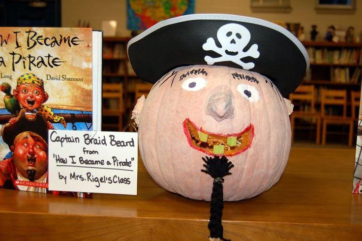 Halloween  book character pumpkins