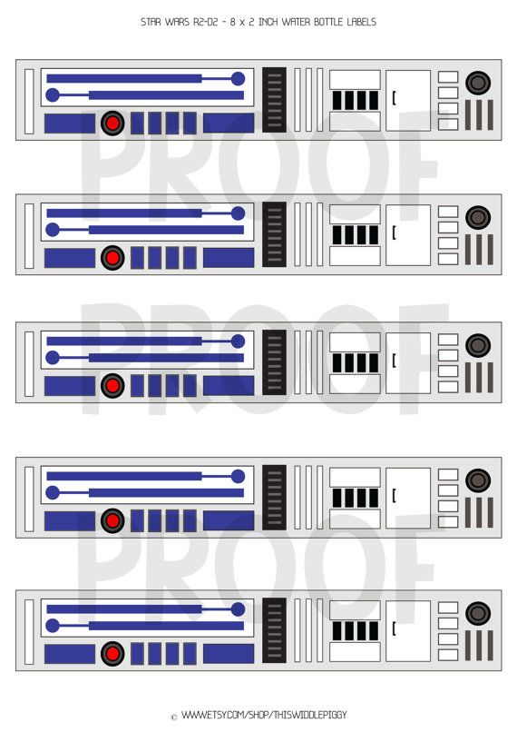 R2D2 Water Bottle Label! Instant Download for your Star Wars Party! on Etsy, $6.00