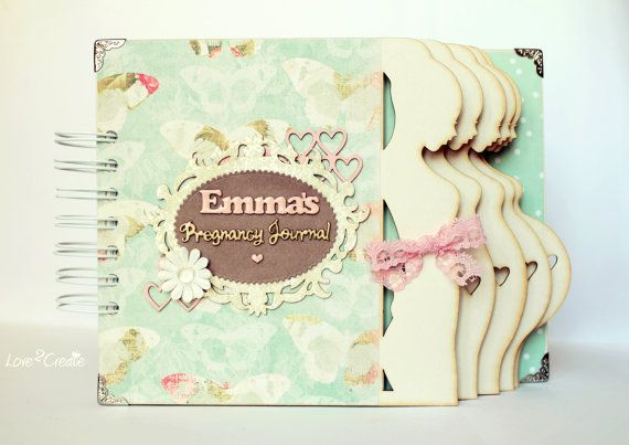 Personalized Pregnancy Journal Pregnancy diary by Love2CreateBG