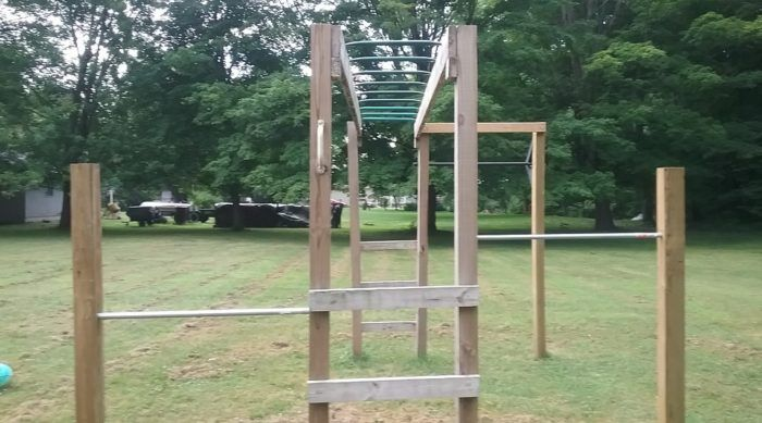 How To Build Monkey Bars My 100 Backyard Design With Images Backyard Design Diy Monkey Bars Monkey Bars