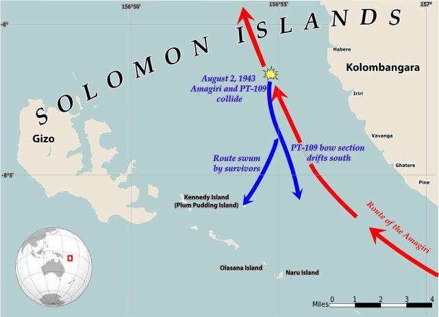 PT-109 Collision Solomon Islands 1943 EN ◆Kennedy Island - Wikipedia http://en.wikipedia.org/wiki/Kennedy_Island #Kennedy_Island #Plum_Pudding_Island #Kasolo_Island