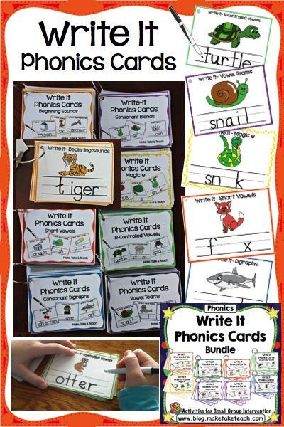 Write It Phonics Cards! Great hands-on activities for targeted phonics skills.