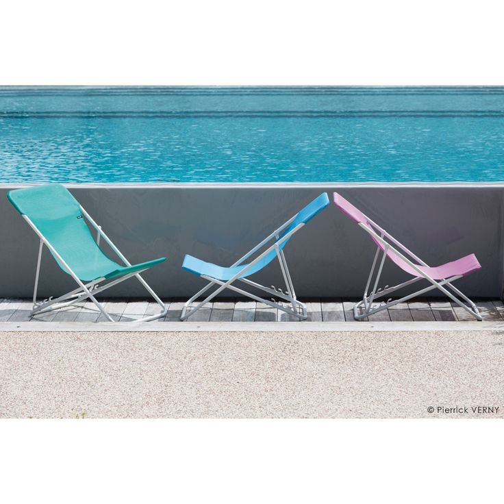 Outdoor Lafuma Maxi Transat Batyline Folding Sling Chair - Set of 2 - LFM2502-7227
