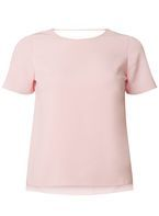 Womens Petite Pink Bar Back T-Shirt- Pink