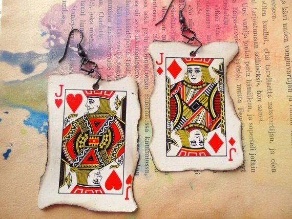Playing card earrings - Jacks