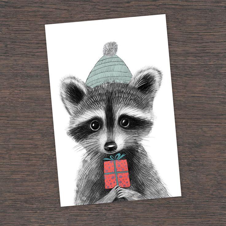 Поздравительные открытки с енотом, марта своими