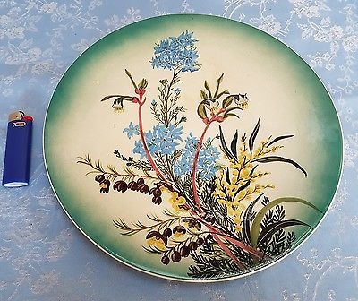 Australian pottery Large Hand Painted Wall Plate