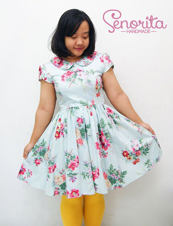 Handmade Plus Size Summer Floral Dress by SenoritaHandmade on Etsy, $80.00
