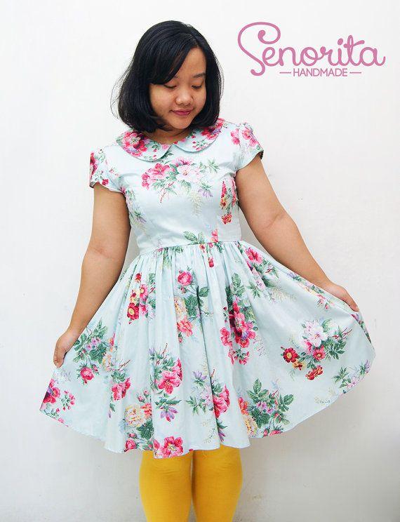Handmade Plus Size Summer Floral Dress by SenoritaHandmade on Etsy, $80.00