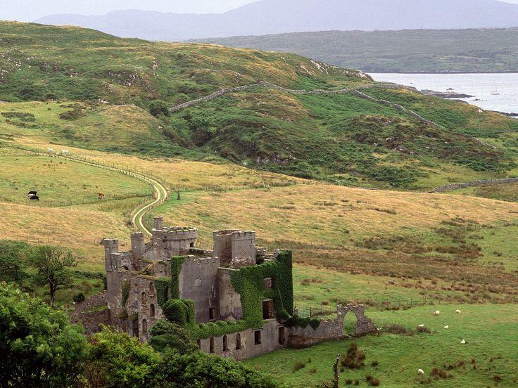 pictures of irelans | County Galway Ireland picture, Clifden Castle County Galway Ireland ...