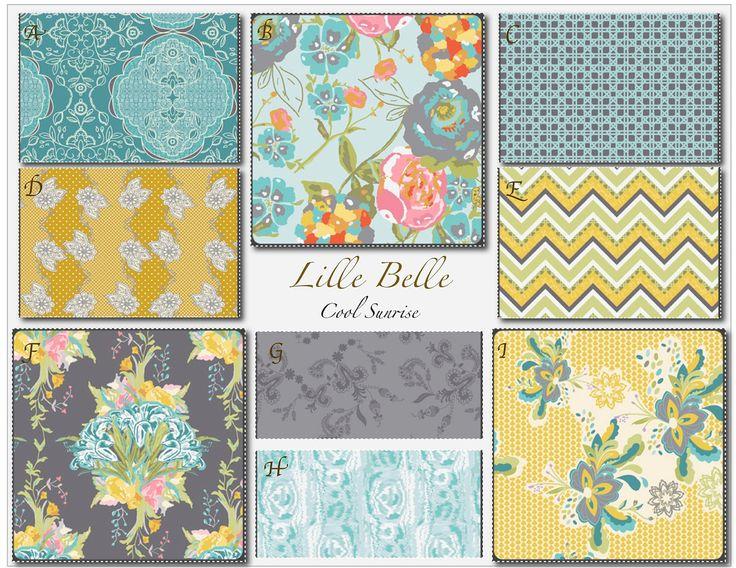 Custom Baby Crib Bedding -Design Your Own Modern Baby Bedding-  Lilly Belle- Cool Sunrise by MissPollysPieceGoods on Etsy