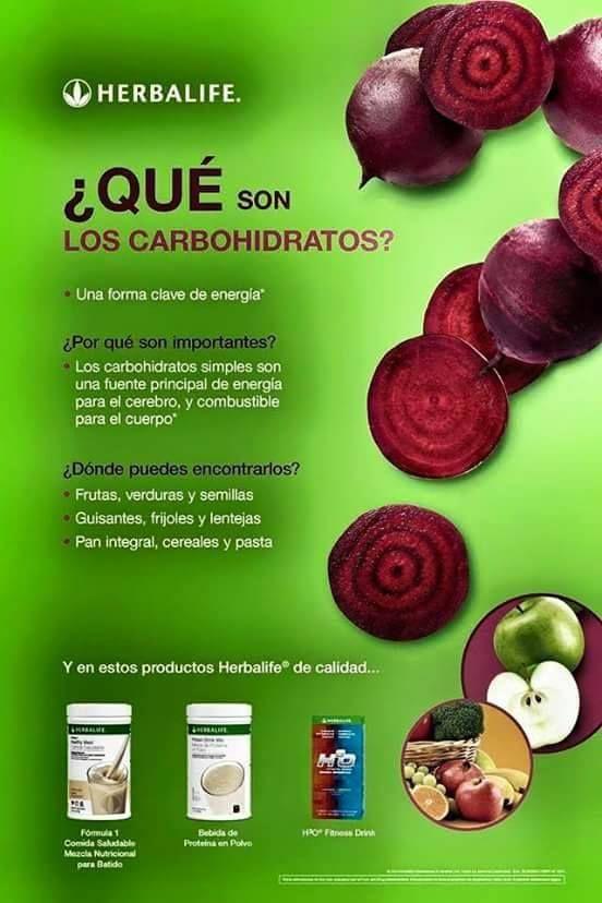 ¿Qué son los carbohidratos? #herbalife #productosherbalife