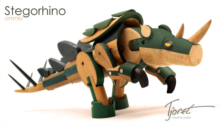 this is a toy made by my previous office, Tjoret creative studio, and the material is from bamboo :)