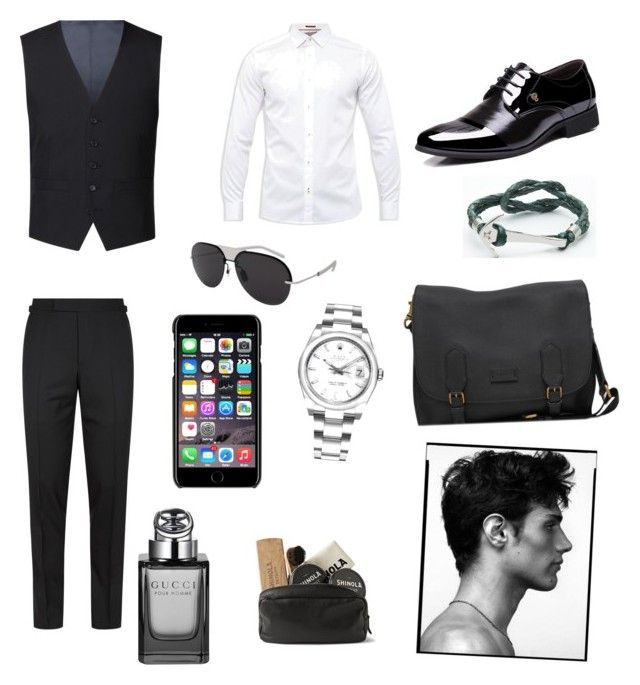 """Sin título #316"" by carolinaramirez-1 on Polyvore featuring Racing Green, Tom Ford, Ted Baker, Rolex, Christian Dior, Dolce&Gabbana, Gucci, Shinola, men's fashion y menswear"