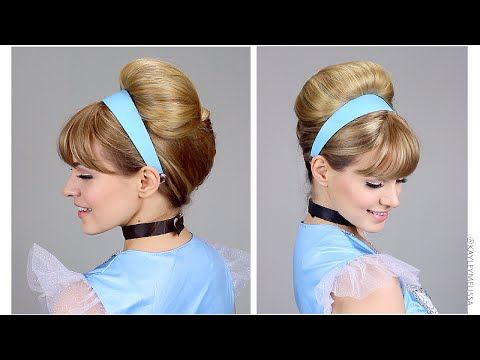 How to get Cinderella's Updo for Halloween or Costume! This is way easier than you think - you can definitely do it! + it's great for a breakfast at tiffany's updo!