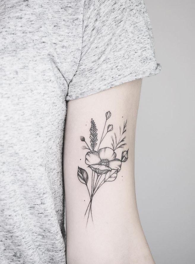 Wild Flowers Tattoo Inkstylemag Wildflower Tattoo Wild Rose Tattoo Wild Tattoo