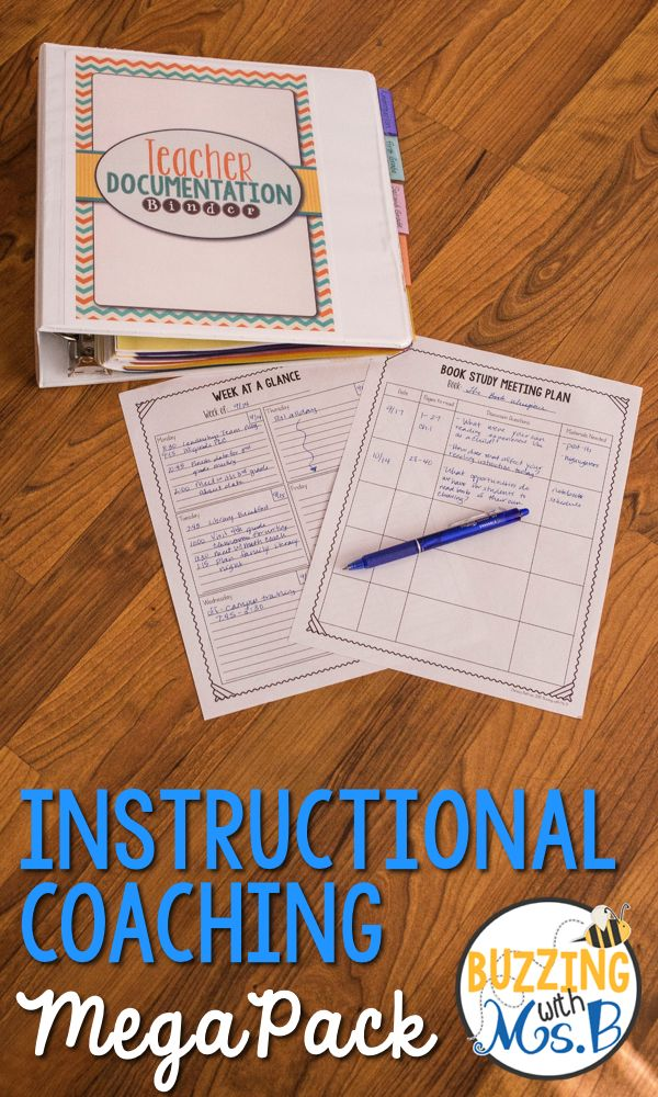 The Instructional Coaching MegaPack is full of organizational tools, forms, classroom observations, and binder covers in printable and fillable formats!