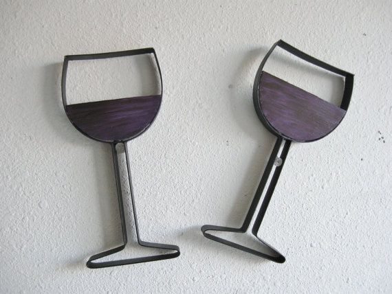 Wine Glass Metal Wall Decor. $18.00, via Etsy.