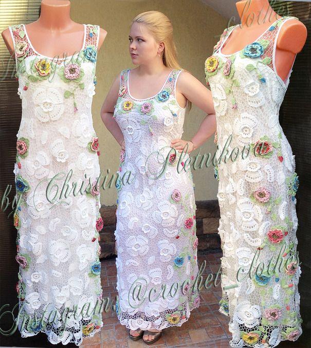 Ручная работа Роскошное платье в пол свадебное вечернее торжественное  Dolce Vita платье в пол, платье макси, платье на выпускной, свадебное платье, торжество, вечернее платье, ирландское кружево, цветочное, белое, изысканное, роскошное, дорогое, плюс сайз, большой размер