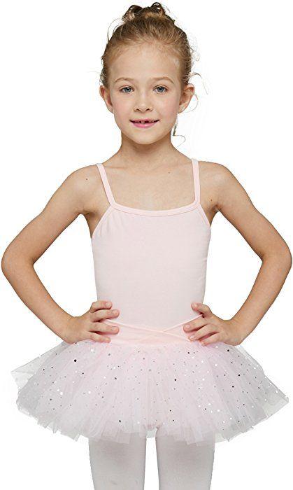 c078dfce2 Amazon.com  Mdnmd Girls  Glitter Camisole Tutu Leotard (Tag 110 ...