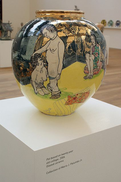 Grayson Perry : Pot based on twenty year old collage (2006)