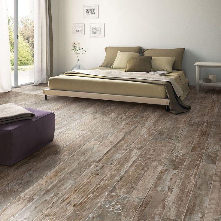 Bedroom Ideas | Wood Look Tile | Wood Plank Flooring | Modern Rustic