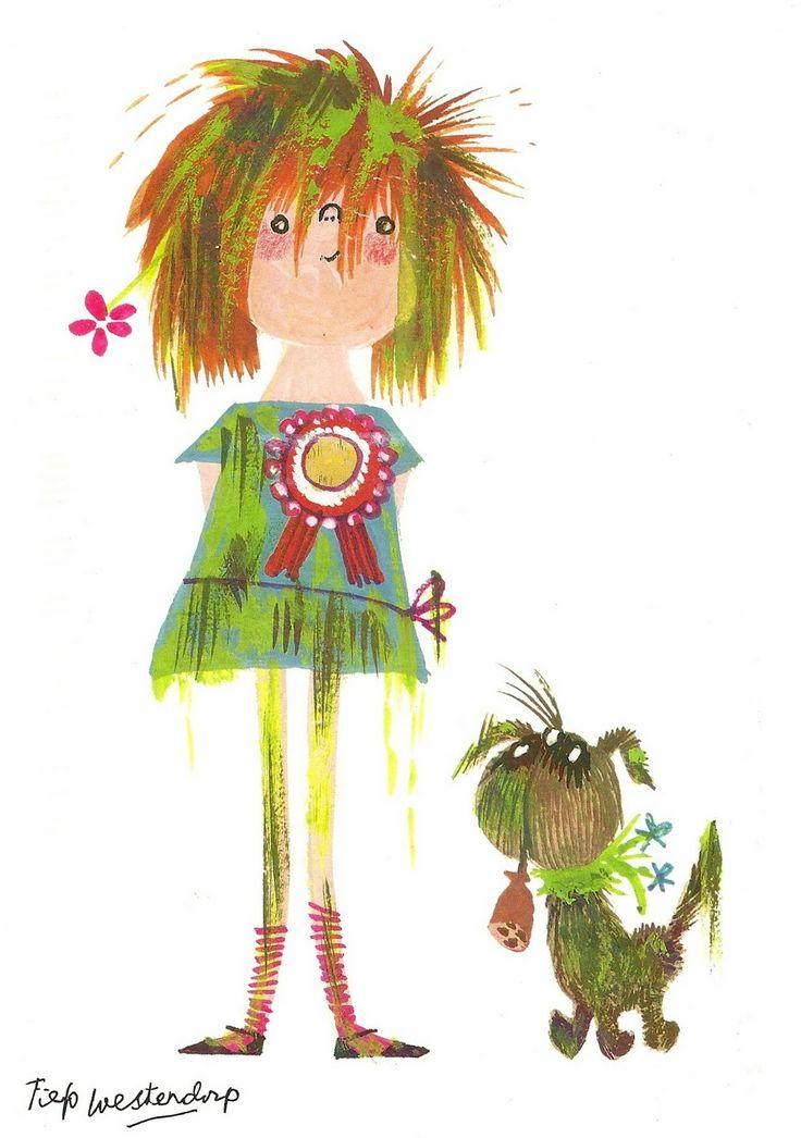 Floddertje, illustration by Fiep Westendorp for the children's book by Annie M.G. Schmidt