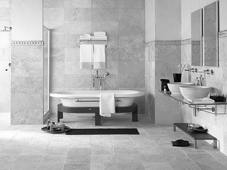 Elegant Gray Black And White Bathroom With Gray Black And White Bathroom