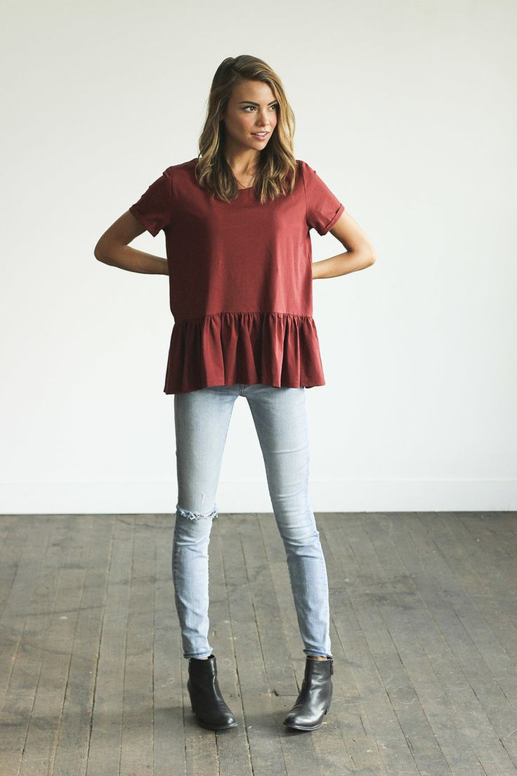 Burgundy peplum? Yes please!
