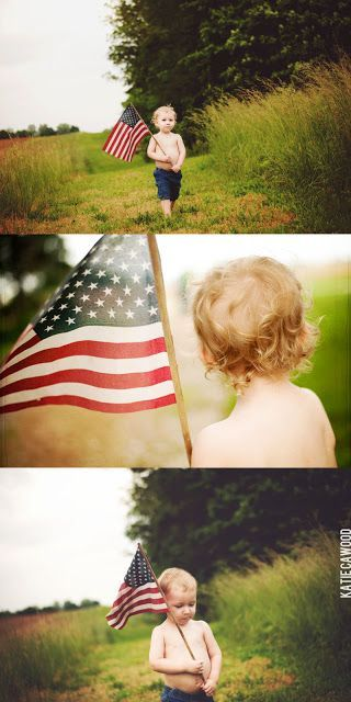 4th of July session idea. American flag session
