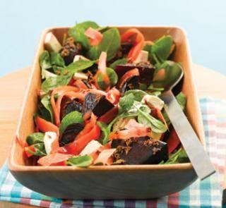 Carrot, beetroot and cumin salad