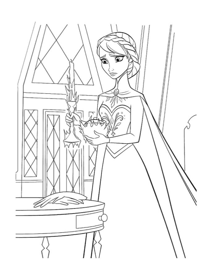 It Seems That Elsa Still Does Not Control Her Magic Powers Come Check Out And Have Fun Coloring This Amazing Picture From Disney Frozen Movie