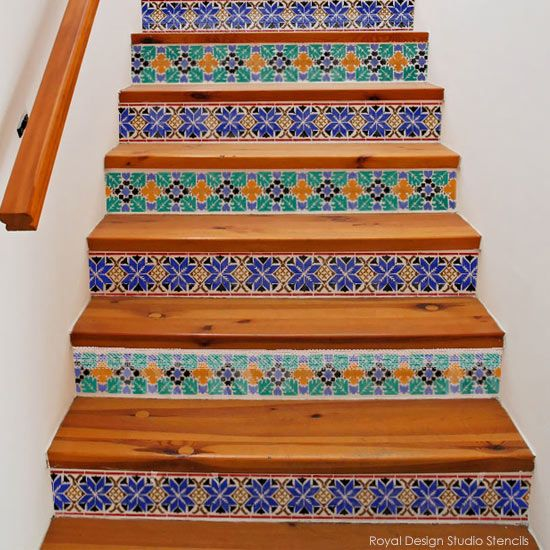 The 25+ Best Stenciled Stairs Ideas On Pinterest