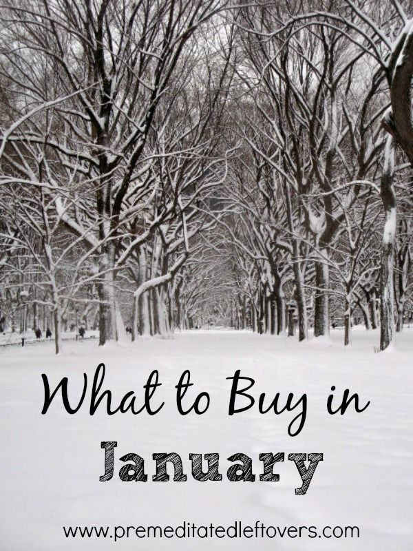 If you want to save more money in the New Year, get started by taking a look at What to Buy in January. Here are some items you can expect to find on sale.