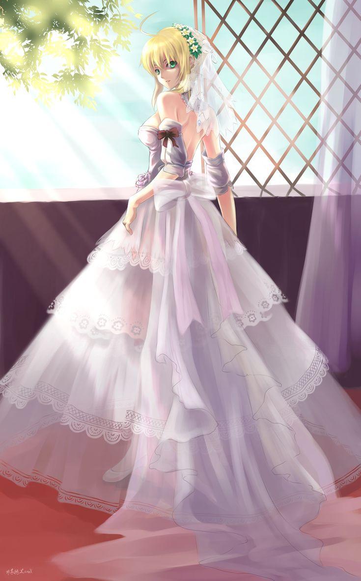 Saber Bride by Bzerox