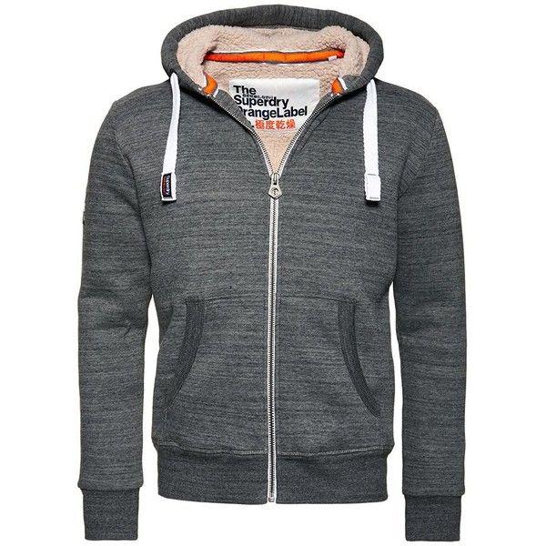 Superdry Orange Label Winter Zip Hoodie ($72) ❤ liked on Polyvore featuring men's fashion, men's clothing, men's hoodies, mens hoodies, mens zip up hoodies, mens cotton hoodies, mens fleece lined hoodies and mens zip up hoodie