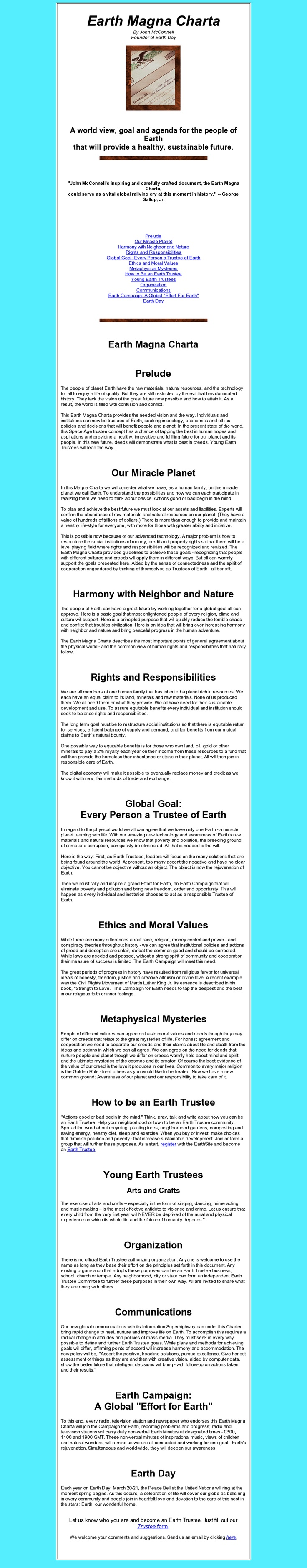Earth Magna Charta