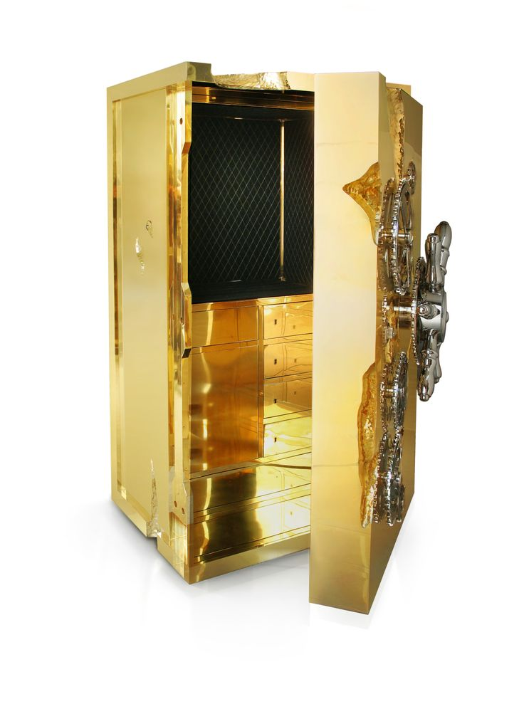 The Most Iconic Safes from Private Collection by Boca do Lobo | www.bocadolobo.com #bocadolobo #luxuryfurniture #exclusivedesign #interiordesign  #contemporary #design #modern #luxury #luxurysafes #luxurybrands #luxurylifestyle #expensivelifestyle #money #glamour #bold #luxurylifestyle #luxurysafes #boheme #handcrafted #chic #modern #statement #bold