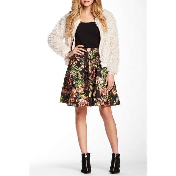 Weston Wear Eden Reversible Print Bubble Skirt ($85) ❤ liked on Polyvore