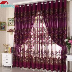 Great tips for your home decoration Buy link>>>http://urlend.com/mqQjqaN Live a better life, start with @beddinginn http://www.beddinginn.com/product/New-Arrival-High-Class-Purple-Luxury-Pattern-Custom-Sheer-Curtain-11274098.html