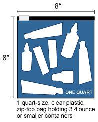 American Airlines Us Airways Clear Plastic Zip Lock Bag