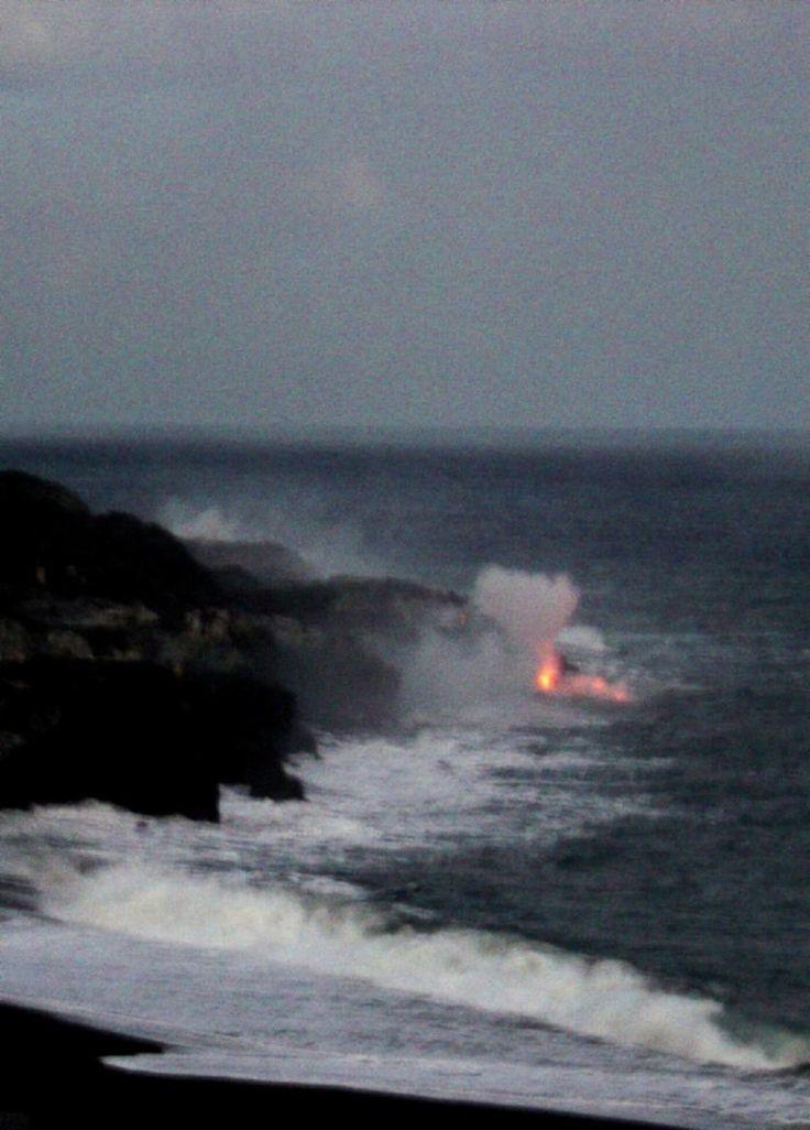 USA, Lava Meets the Sea, Big Island, Hawaii
