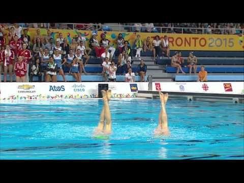 Jacqueline Simoneau/Karine Thomas - synchronized swimming Duet Final - pan am games toronto 2015 - YouTube